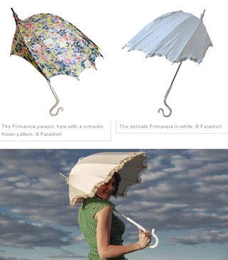 Parasolki w kształcie muszli ślimaka