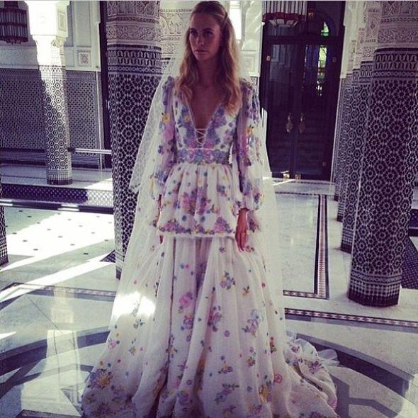Poppy Delevingne miała dwie suknie ślubne (FOTO)