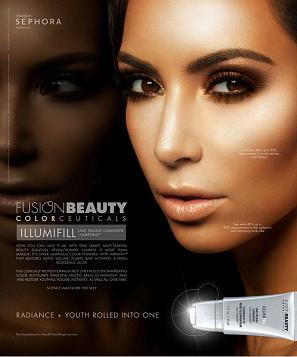 Kim Kardashian reklamuje Fusion Beauty