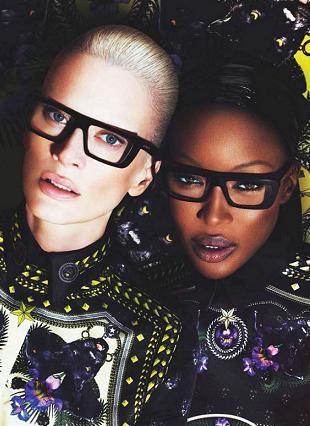 Naomi Campbell i Kristen McMenamy dla Givenchy