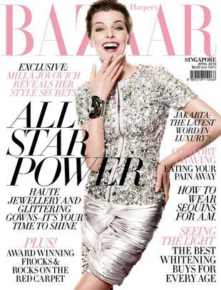 Futurystyczna Milla Jovovich w Harper's Bazaar