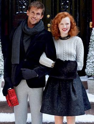 Karen Elson w świątecznej kampanii Banana Republic