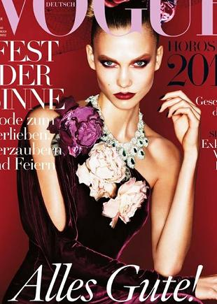 Karlie Kloss na okładce grudniowego Vogue Deutsch