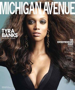 Tyra Banks na okładce Michigan Avenue