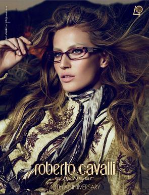 Gisele Bundchen w kampanii reklamowej Roberto Cavalli