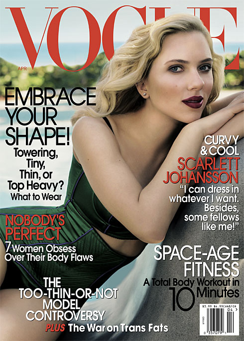 Scarlett Johansson na okładkach magazynu Vogue