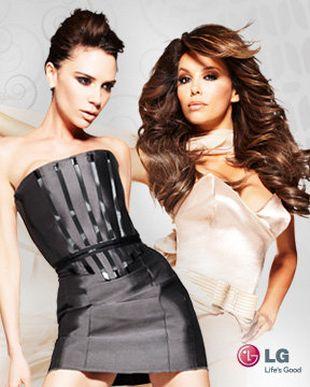 Vicktoria Beckham i Eva Longoria reklamują LG