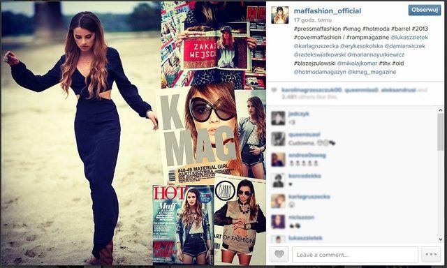 Blogerki modowe na swoich instagramowych profilach (cz.3)