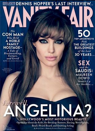 Angelina Jolie w Vanity Fair i Elle