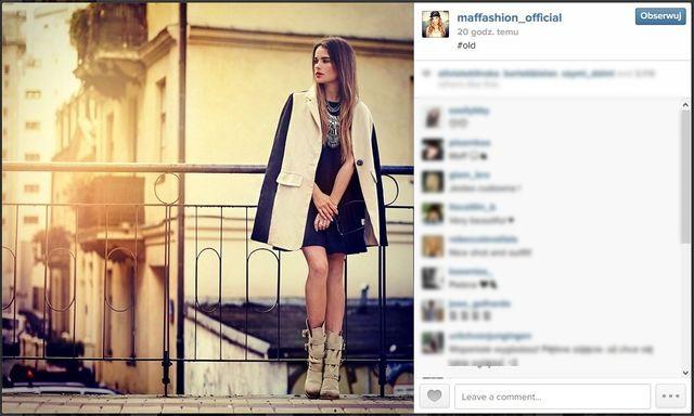 Blogerki modowe na swoich instagramowych profilach (cz.1)