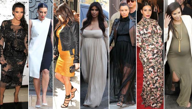 Wspominamy stylizacje Kim Kardashian z jej pierwszej ciąży