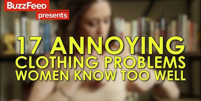17 denerwujących problemów z ubraniami (VIDEO)