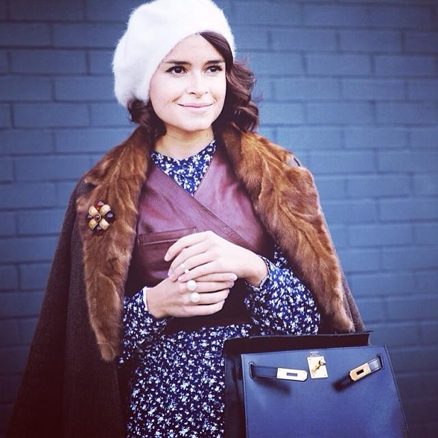 Mira Duma nosi moherowy beret (FOTO)