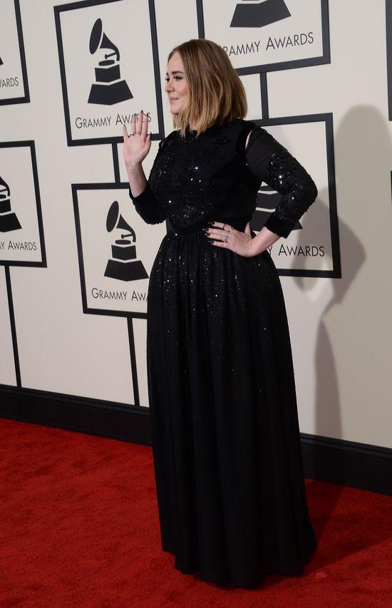 Mocno odchudzona Adele zachwyciła na rozdaniu GRAMMY 2016