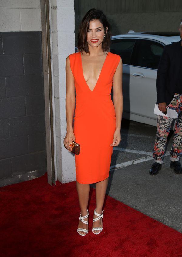 Jenna Dewan w sukience z  bardzo dużym dekoltem (FOTO)