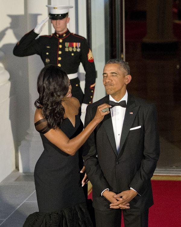 Michelle Obama zachwyciła w czarnej sukni od Very Wang