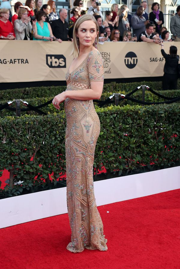 Skąpana w złocie Emily Blunt zachwyca na rozdaniu nagród SAG? (FOTO)