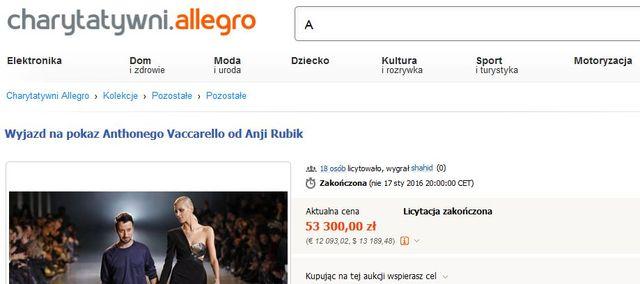 Anja Rubik zebrała ogromną kwotę na rzecz WOŚP (FOTO)