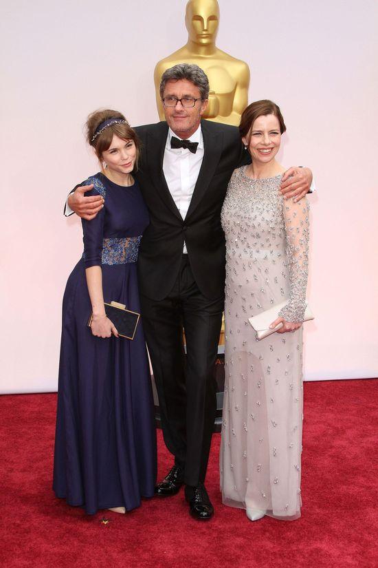 Agata Kulesza i Agata Trzebuchowska na rozdaniu Oscarów 2015
