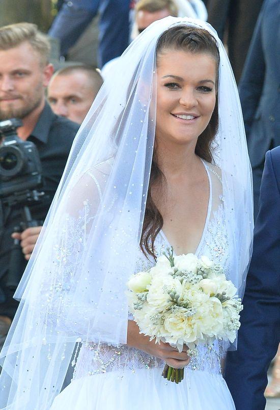 Jedną? Dwie? Nie! Agnieszka Radwańska miała jeszcze trzecią ślubną kreację (FOT)