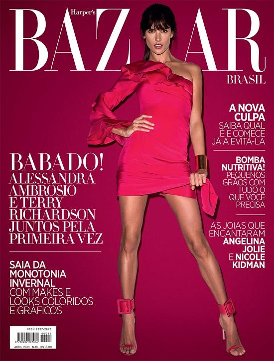 Alessandra Ambrosio na czerwcowej okładce Harper's Bazaar