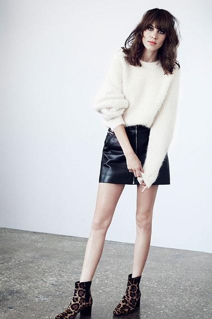 Alexa Chung promuje internetowy butik Mytheresa.com