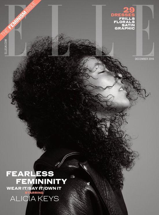 Alicia Keys bez grama makijażu na okładce Elle UK! (FOTO)