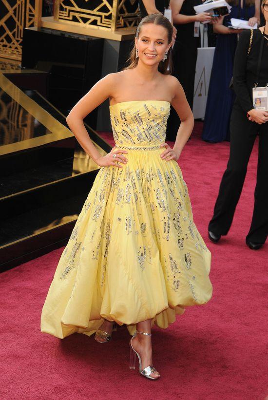 Alicia Vikander jak księżniczka Disneya na rozdaniu Oscarów