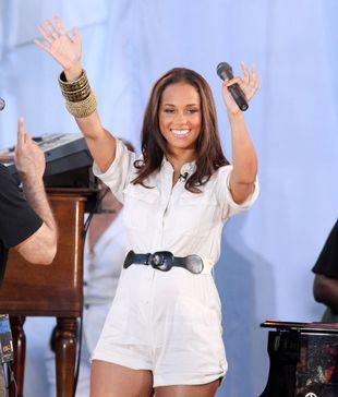 Piękna mama Alicia Keys
