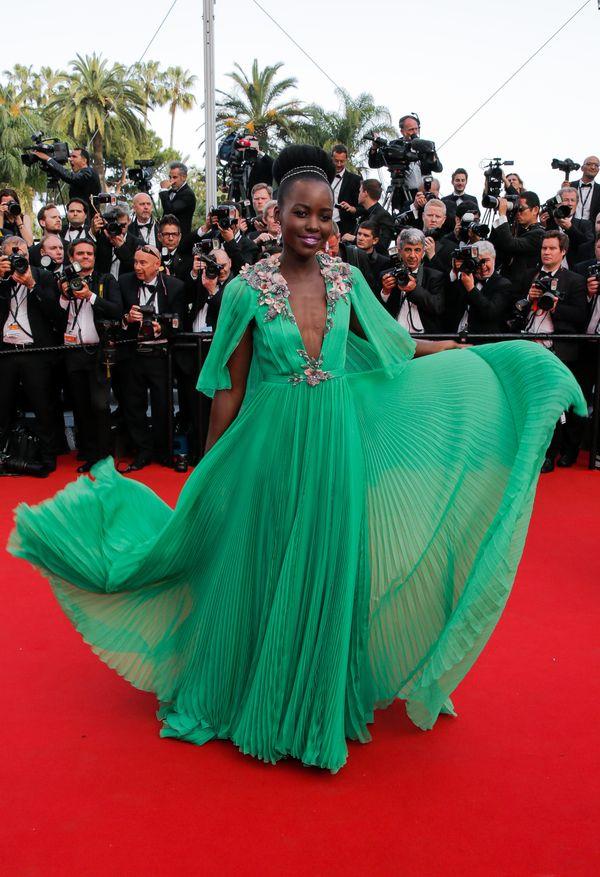 Lupita Nyong'o w zwiewnej sukni na festiwalu w Cannes