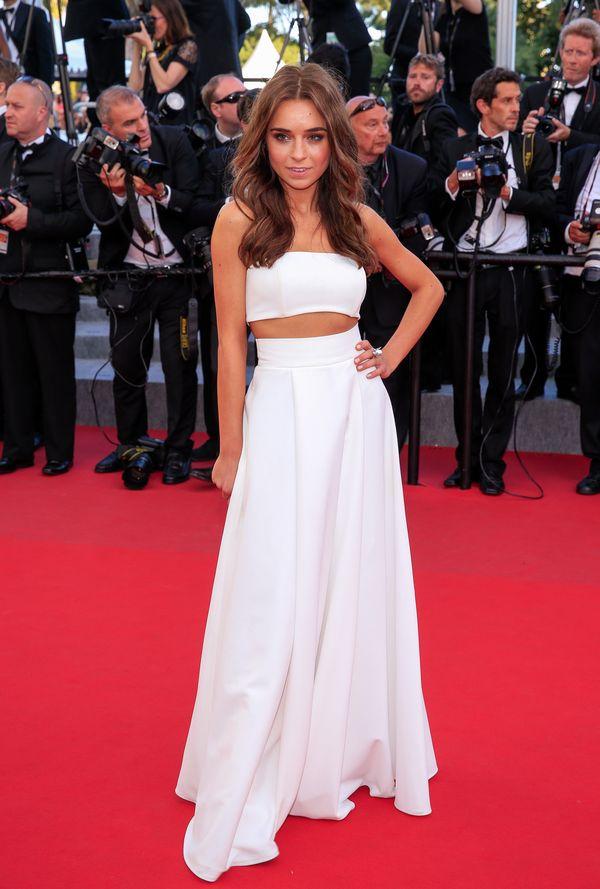 Polska blogerka modowa na czerwonym dywanie w Cannes