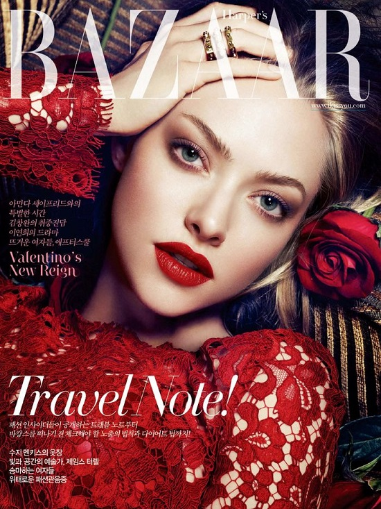 Seksowna Amanda Seyfried na okładce Harper's Bazaar Korea