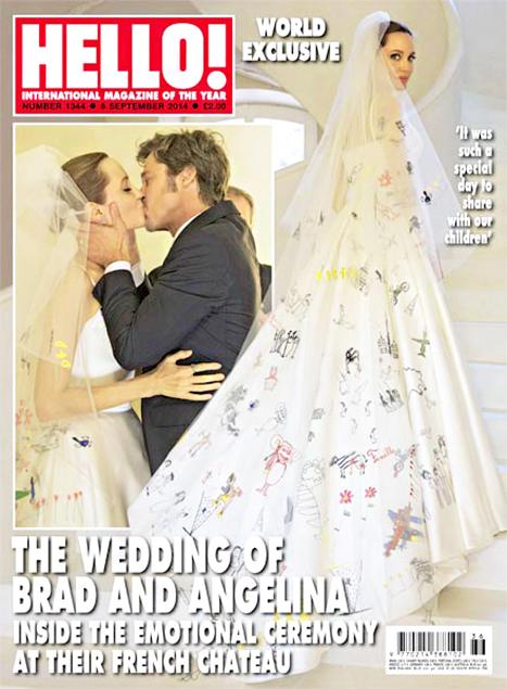 Cały świat nabija się z sukni ślubnej Angeliny Jolie! (FOTO)
