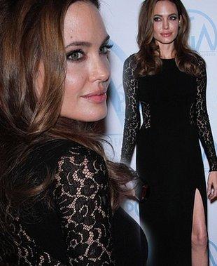 Angelina Jolie w modnych koronkach (FOTO)