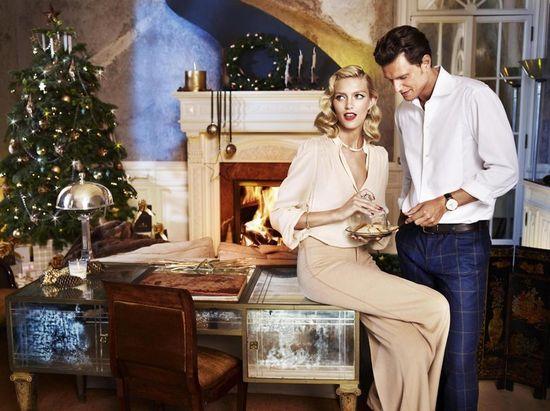 Anja Rubik z mężem w świątecznej kampanii Apart (FOTO)