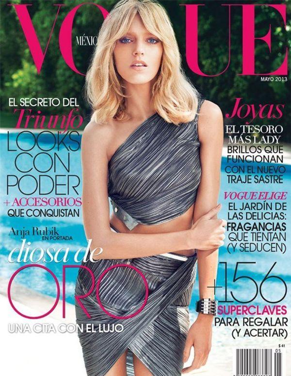 Anja Rubik na kolejnej okładce pisma Vogue