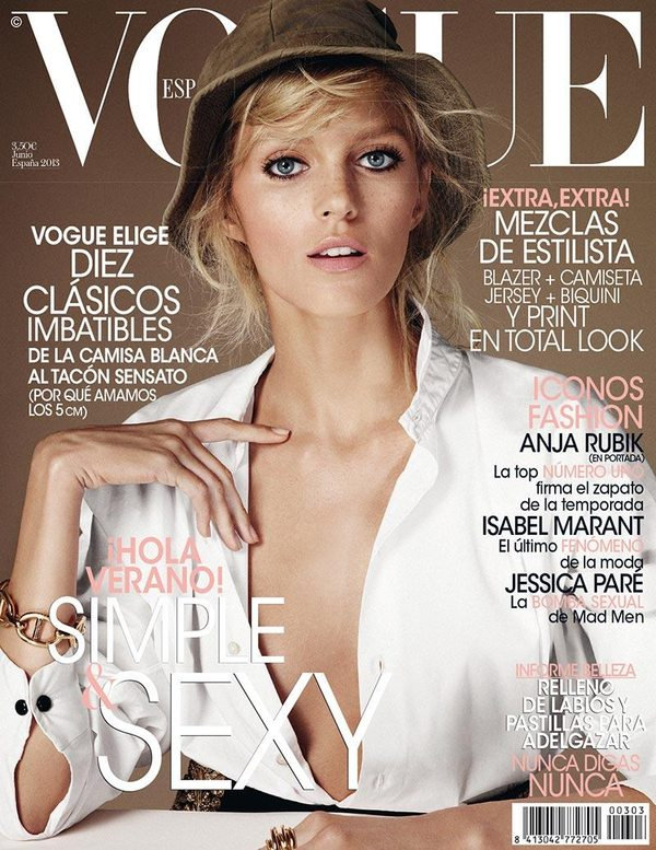 Anja Rubik dla Vogue Spain