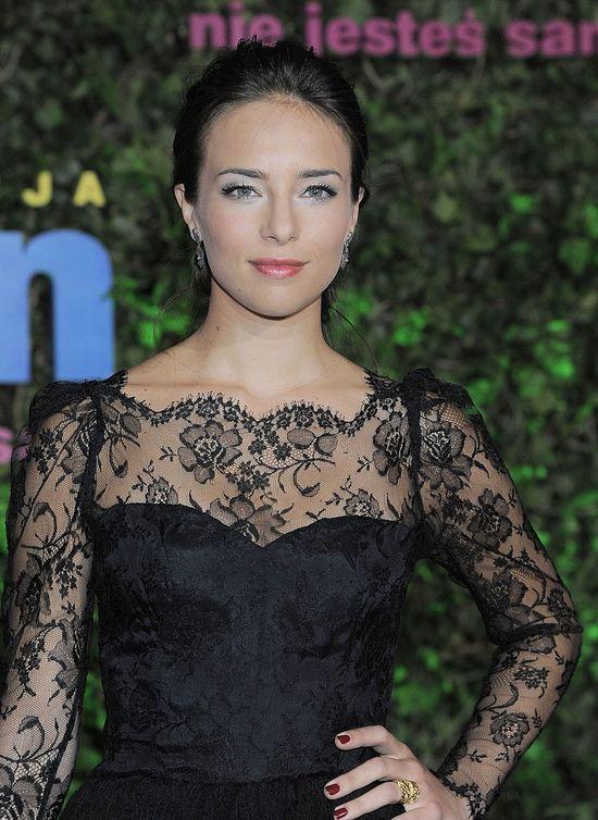 Anna Czartoryska w koronowej sukience (FOTO)