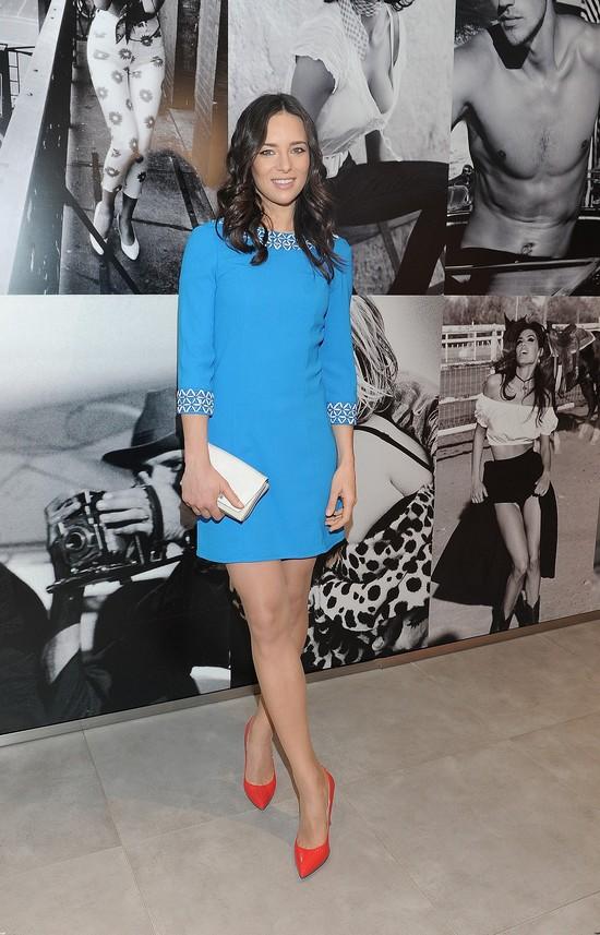 Anna Czartoryska w niebieskiej sukience (FOTO)