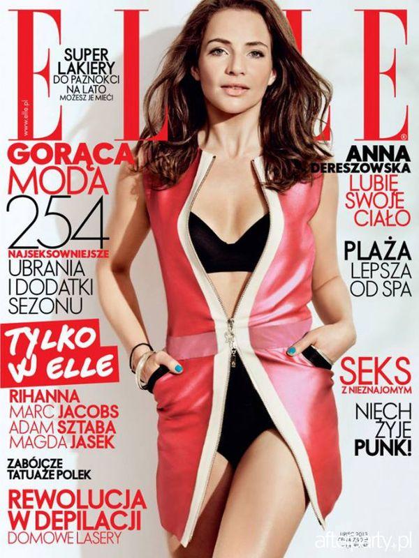 Anna Dereszowska na okładce Elle (FOTO)
