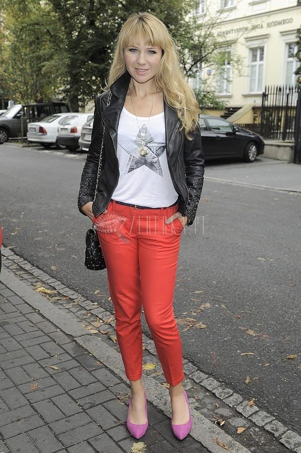 Przegląd spodni -  bordo i czerwień jesień 2012