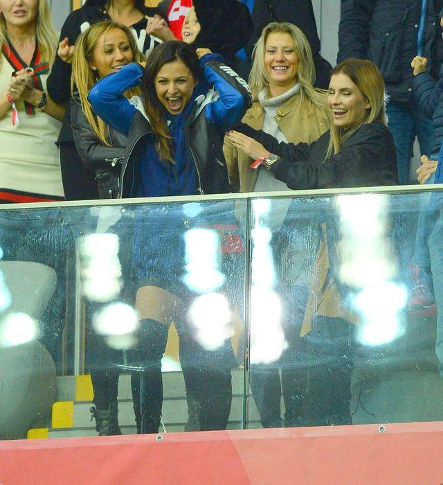 Lewandowska w sportowym wydaniu i elegancka Marina, czyli polskie WAGs na meczu