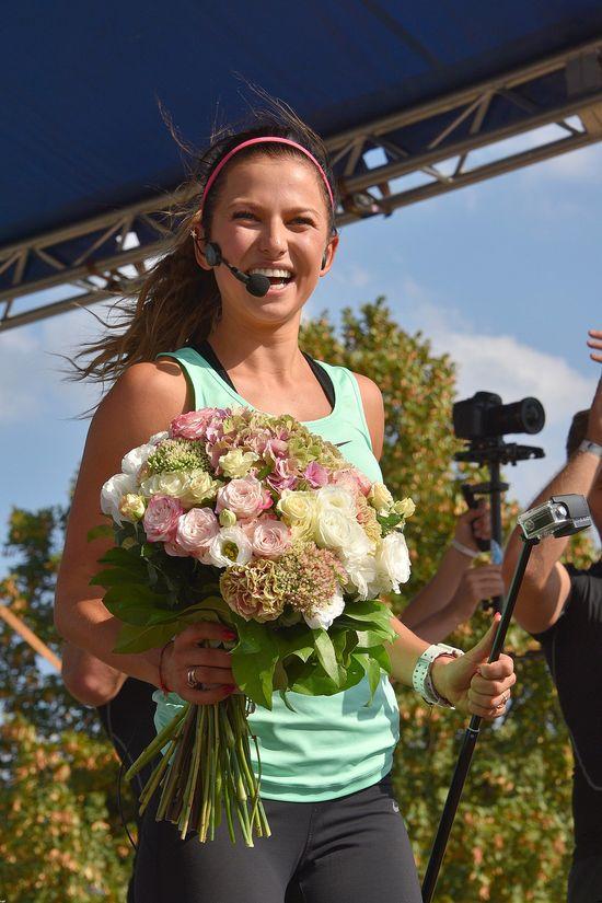 Wow! Anna Lewandowska w ciąży kwitnie i... tańczy... (VIDEO)