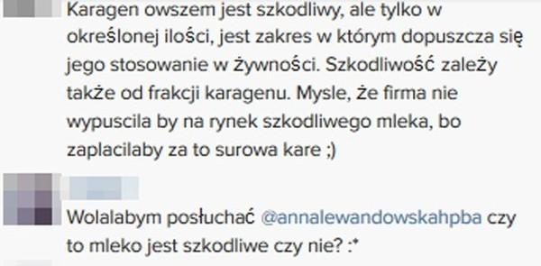 Internauci wytykają Annie Lewandowskiej niewiedzę