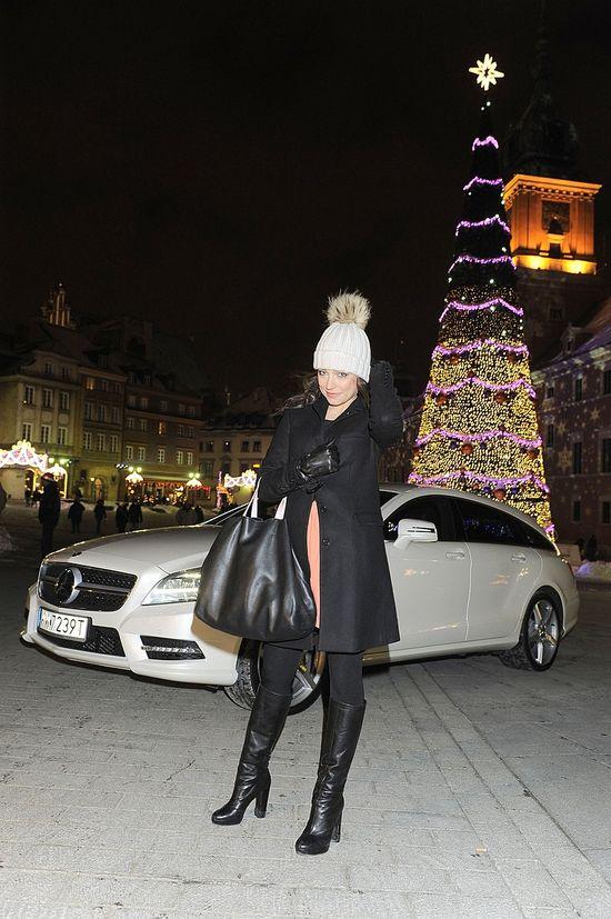 Anna Mucha w czapie z pomponem (FOTO)