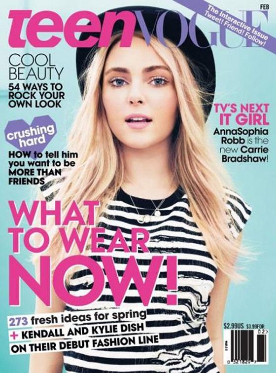 AnnaSophia Robb - młoda Carrie Bradshaw w Teen Vogue