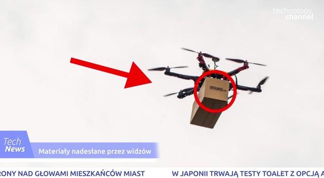 Drony roznoszą paczki z ubraniami!