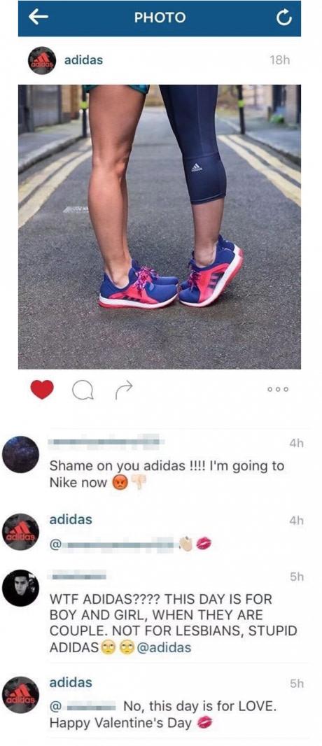 Adidas wie, jak najlepiej gasić hejterów