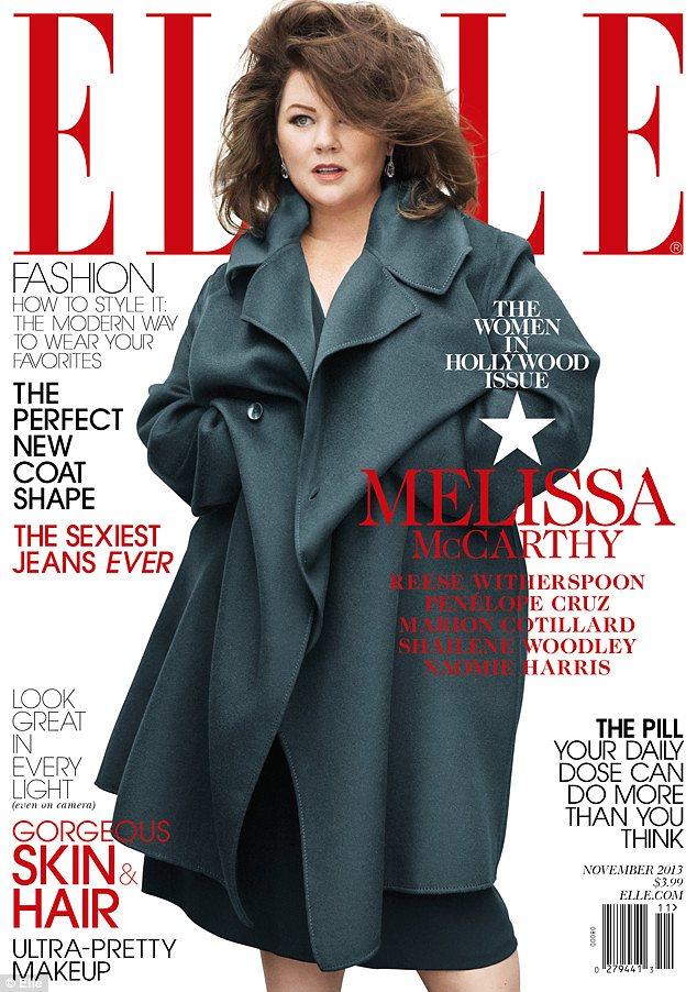 Melissa McCarthy broni swojej okładki dla Elle