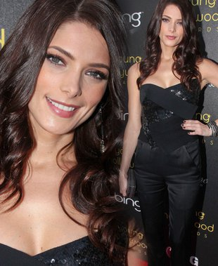 Ashley Greene stawia na czerń (FOTO)